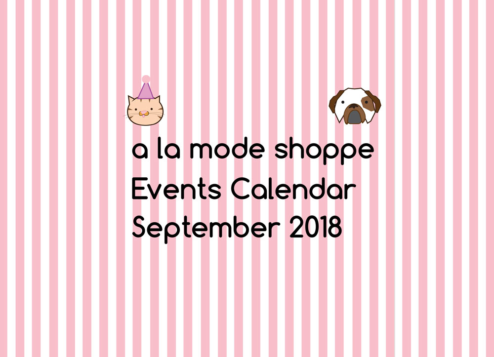 September 2018 Events Calendar