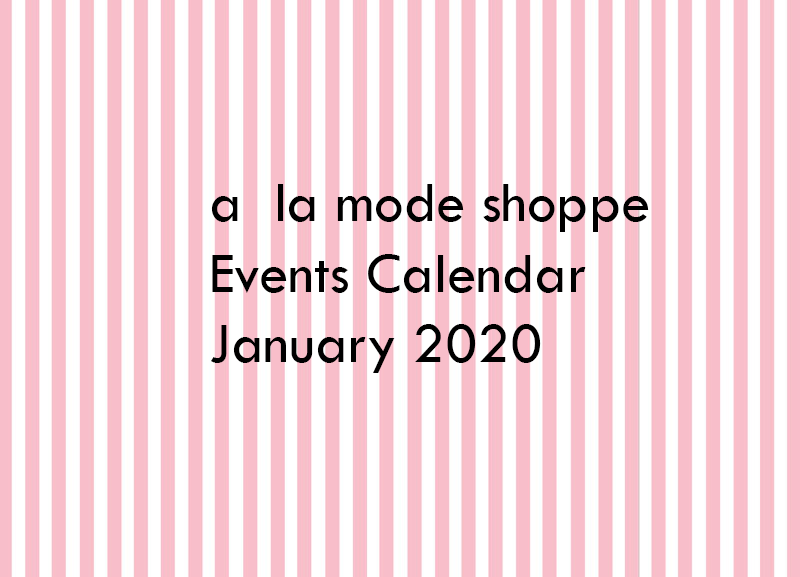 January 2020 Events Calendar